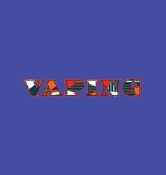 Vaping concept word art vector