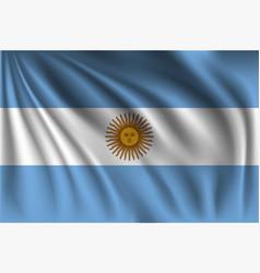 Waving argentina vector