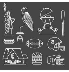 American stereotypes vector image vector image