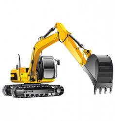 crawler excavator vector image vector image