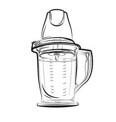 drawing black and white kitchen blender vector image