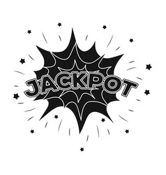 jackpot winnings at the casino the greatest win vector image vector image
