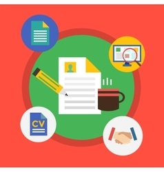 Office tools objects for infographic vector