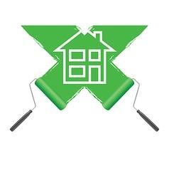 paint roller green vector image vector image
