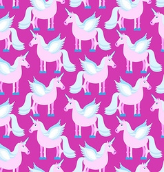 Pink Unicorn seamless pattern Fantastic animal on vector image