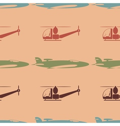 seamless background with plane vector image vector image