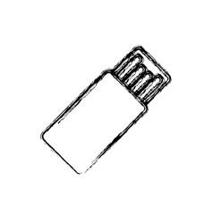 usb hard drive pen vector image