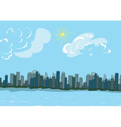 cartoon new york background vector image