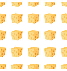 Cheddar parmesan cheese seamless pattern vector