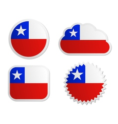 Chile flag labels vector image