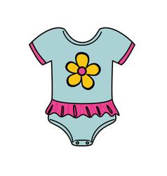 cute baby suit wear vector image