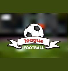 logo football league vector image