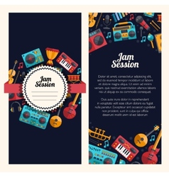 modern flat design decorative invitation flyer t vector image vector image