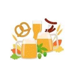 Oktoberfest elements isolated on white vector image