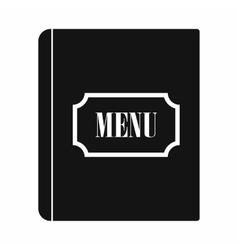 Restaurant menu black simple icon vector image vector image