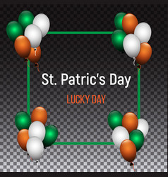 saint patrick s day greeting card design with vector image vector image