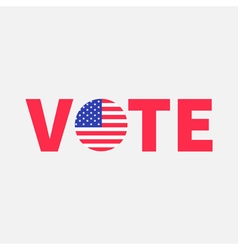 Vote red text Blue badge button icon with American vector image vector image