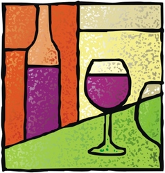 wine stained glass vector image vector image