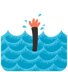 Drowning 2 vector image vector image