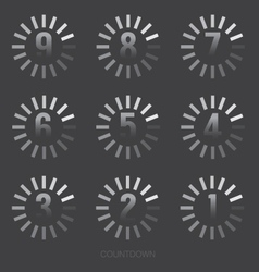 Loading Of Countdown Number vector image