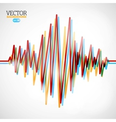 Waveform background vector image