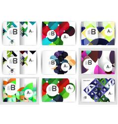 a4 brochure templates geometric design set of vector image