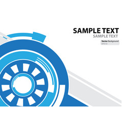 A4 template technology abstract theme vector