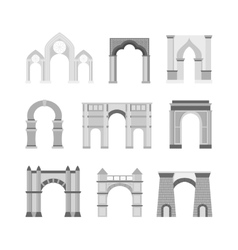 Arch set isolated on white vector
