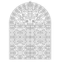 Arched metal gate vector