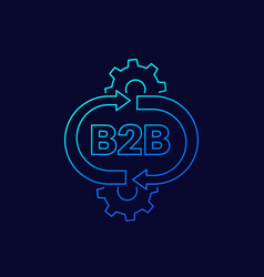 B2b service linear icon vector