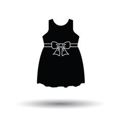 Baby girl dress icon vector