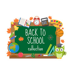 Back to school board frame for text isolated on vector