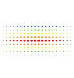 Boom bang spectral halftone array vector