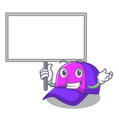 Bring board cap shape in the a cartoon vector