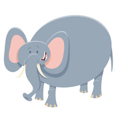 Cartoon elephant safari animal character vector