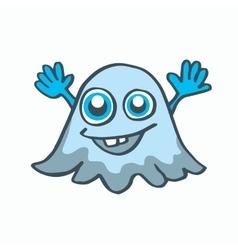 Cartoon ghost Halloween vector