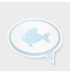 Christian religion symbol fish concept speech vector