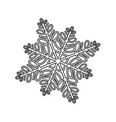 christmas snowflakes winter cold frozen image vector image