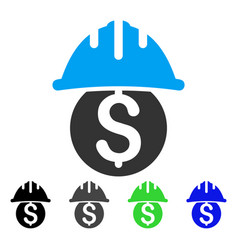 Dollar safety helmet flat icon vector