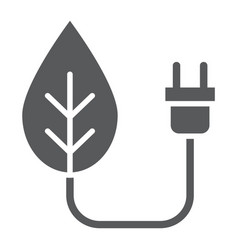 Eco power glyph icon ecology and energy vector