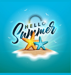 enjoy summer holiday with vector image