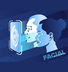facial recognition system vector image