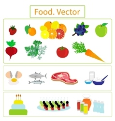 Food Elements vector image
