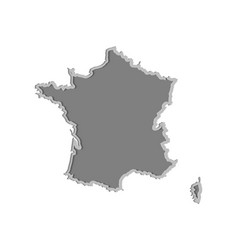 france map paper cut country isolated on a white vector image