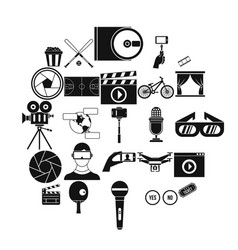 general producer icons set simple style vector image