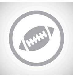 Grey rugby sign icon vector