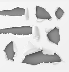 holes and gaps in white background set vector image