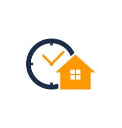 home time logo icon design vector image