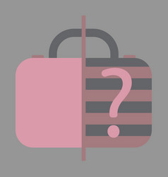 Icon in flat design for airport baggage scanner vector