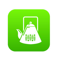 kettle icon green vector image